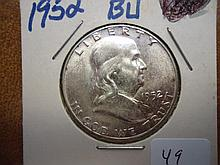 1952 FRANKLIN HALF DOLLAR UNC