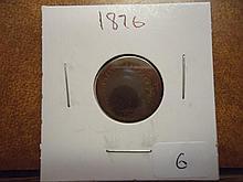 1876 INDIAN HEAD CENT SEMI KEY DATE