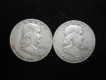 1952-D & 53-D FRANKLIN HALF DOLLARS