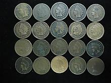 20 ASSORTED INDIAN HEAD CENTS