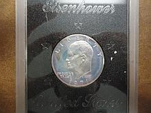 1971-S IKE SILVER DOLLAR PROOF (BROWN PACK) NO BOX