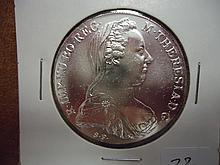 1780 AUSTRIA MARIA THERESIA THALER UNC (SILVER)