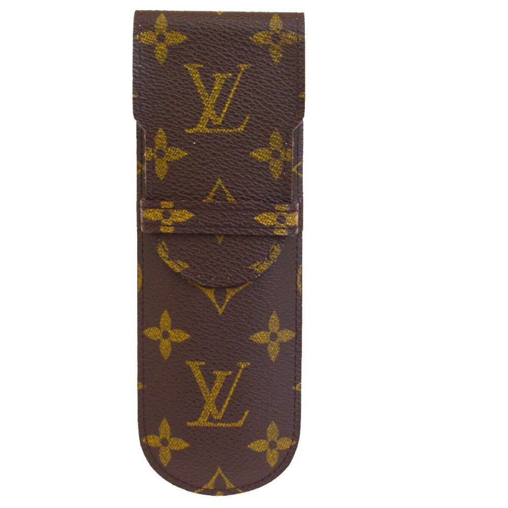 Sold Price Authentic Louis Vuitton Leather Bn Monogram Leather Pen Case June 3 0120 3 00 Am Edt