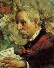 Antonio Mancini - A Portrait Of The Artist's Father