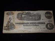Confederate States of America $100 Bill