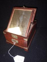 19th Century Campaign Style Oriental Shaving Box