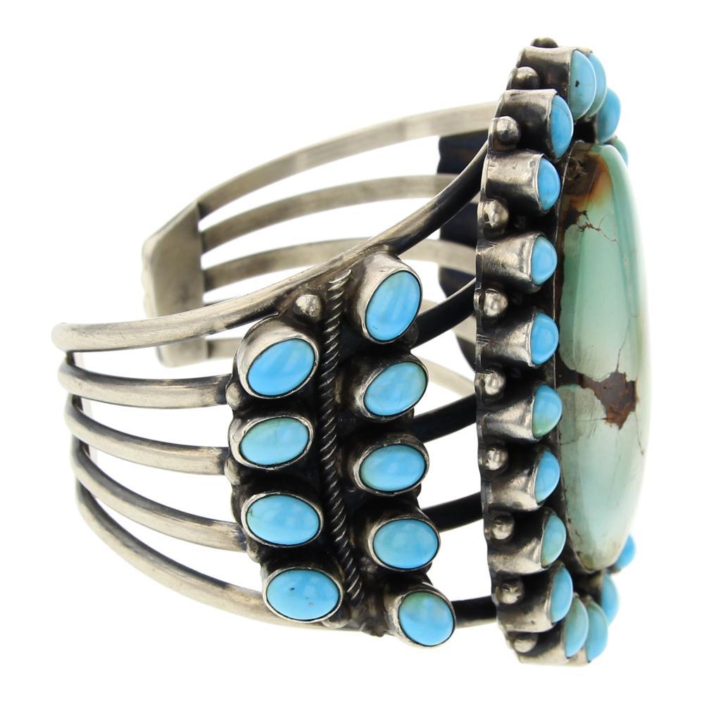 Kathleen Chavez Royston & Kingman Turquoise Large Cluster Bracelet
