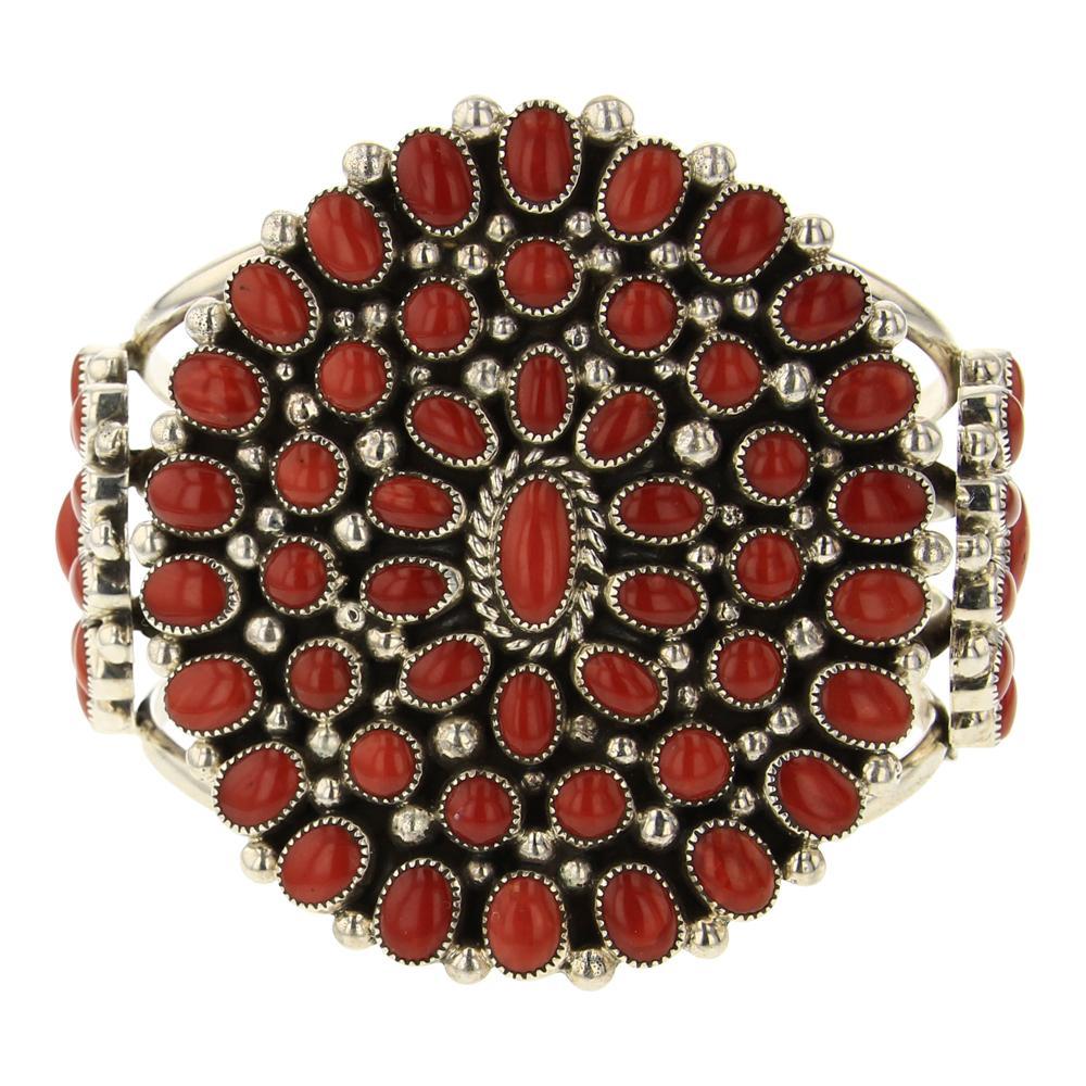 Kenneth Jones Mediterranean Coral Cluster Cuff Bracelet