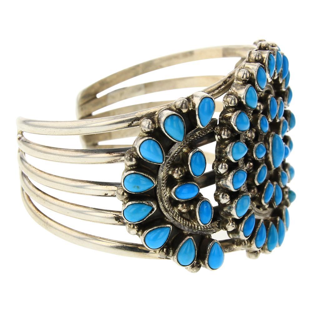 Kathleen Chavez Sleeping Beauty Turquoise Cluster Bracelet