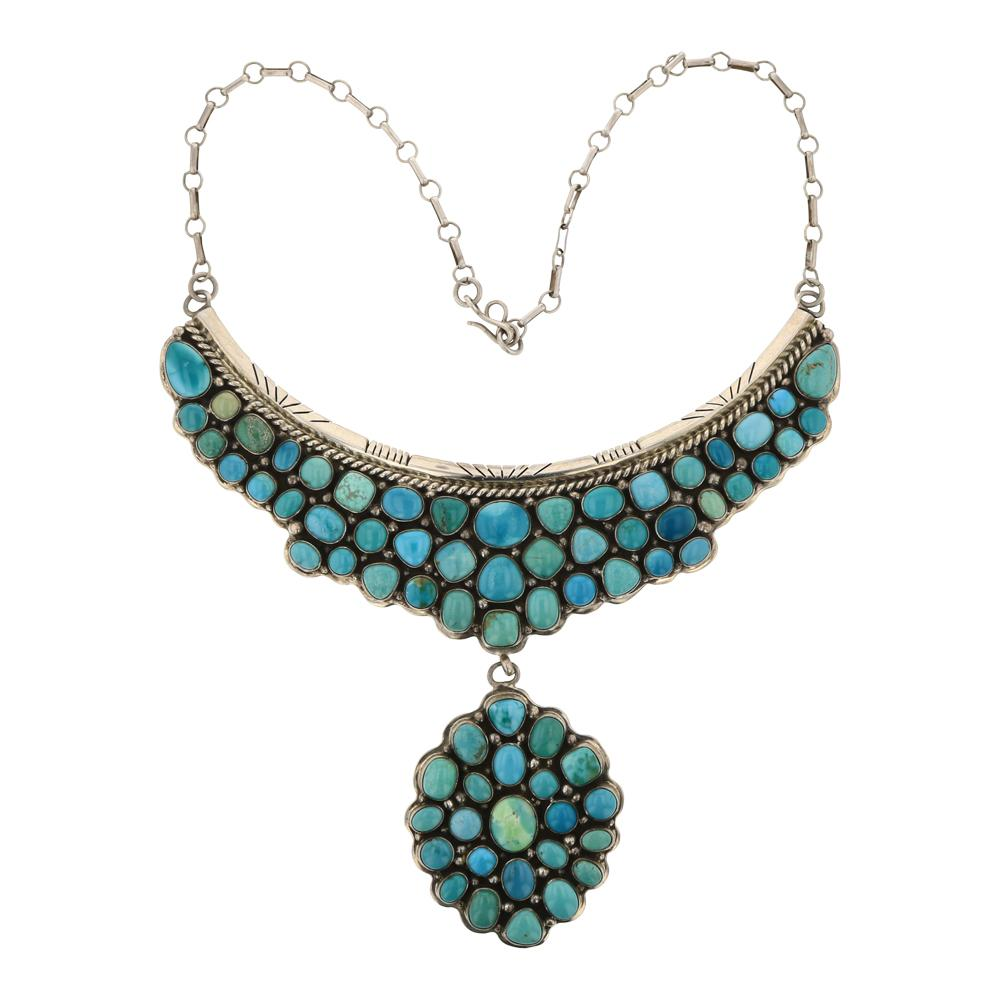 Raymond Bennet Vintage Early Work Nevada Turquoise Necklace