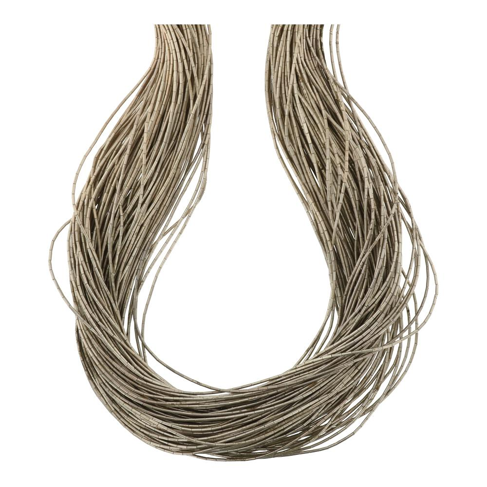 100 Strand Liquid Silver Necklace