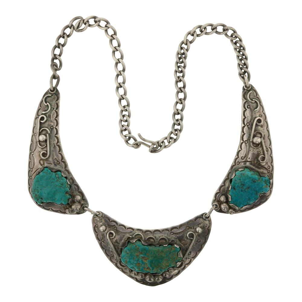 Nevada Nugget Green Turquoise Necklace