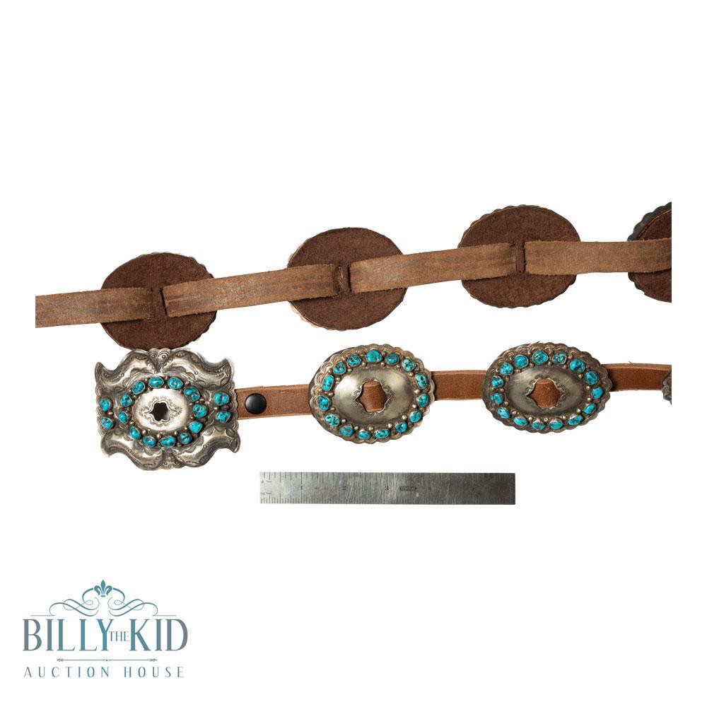 Daniel Martinez Vintage Pawn Kingman Turquoise Concho Belt