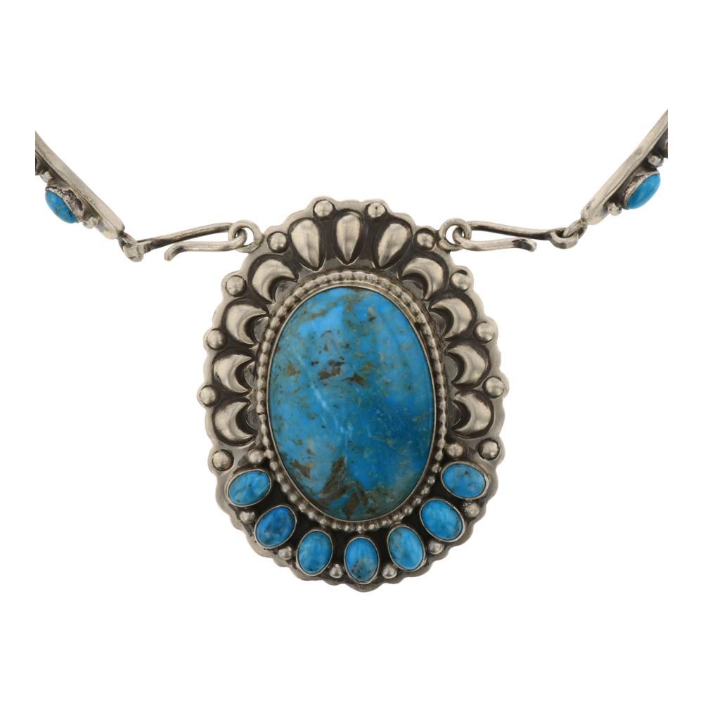 Ray Delgarito Kingman Turquoise Collar Chocker Necklace