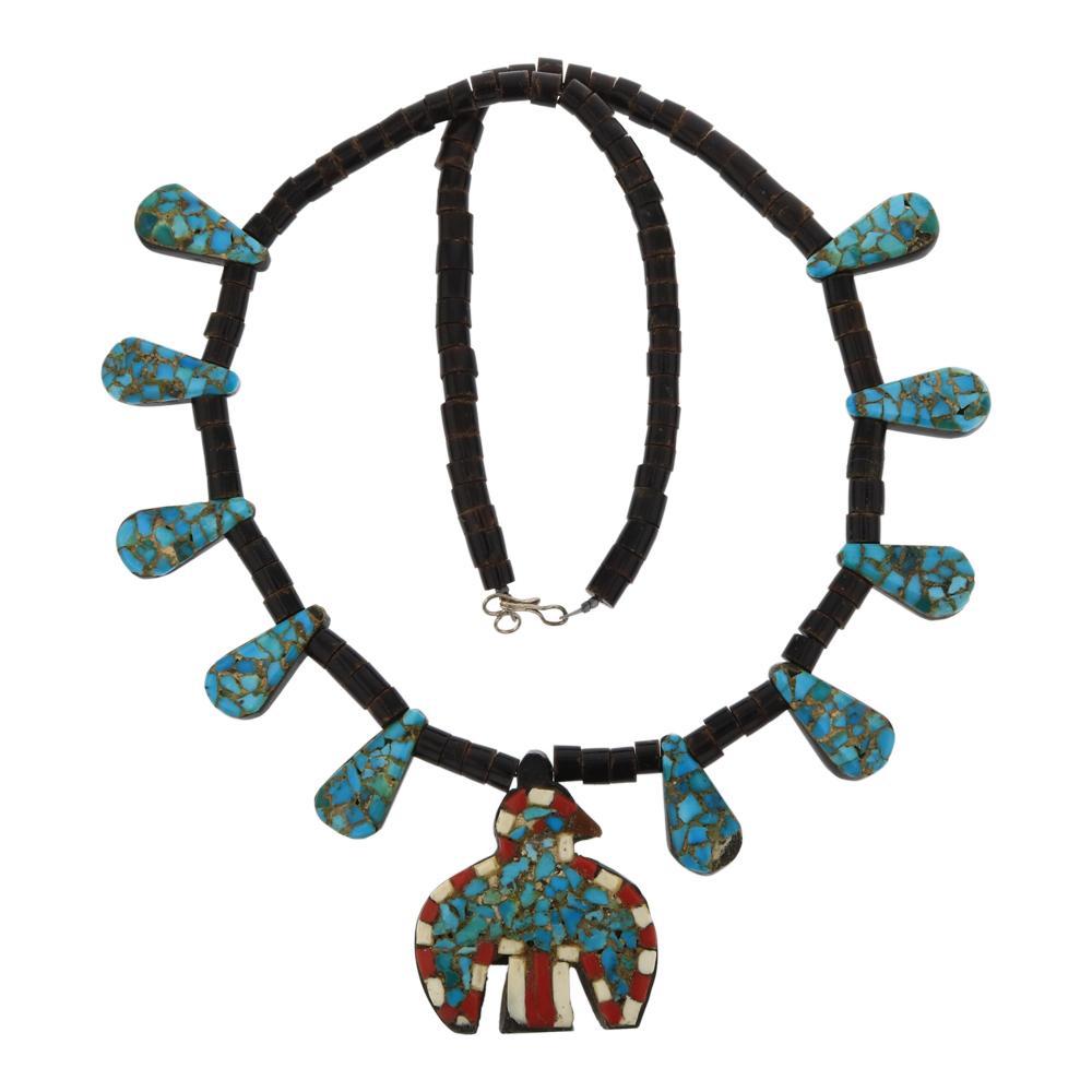 Old Pawn Santo Domingo Depression Era 1920's Necklace