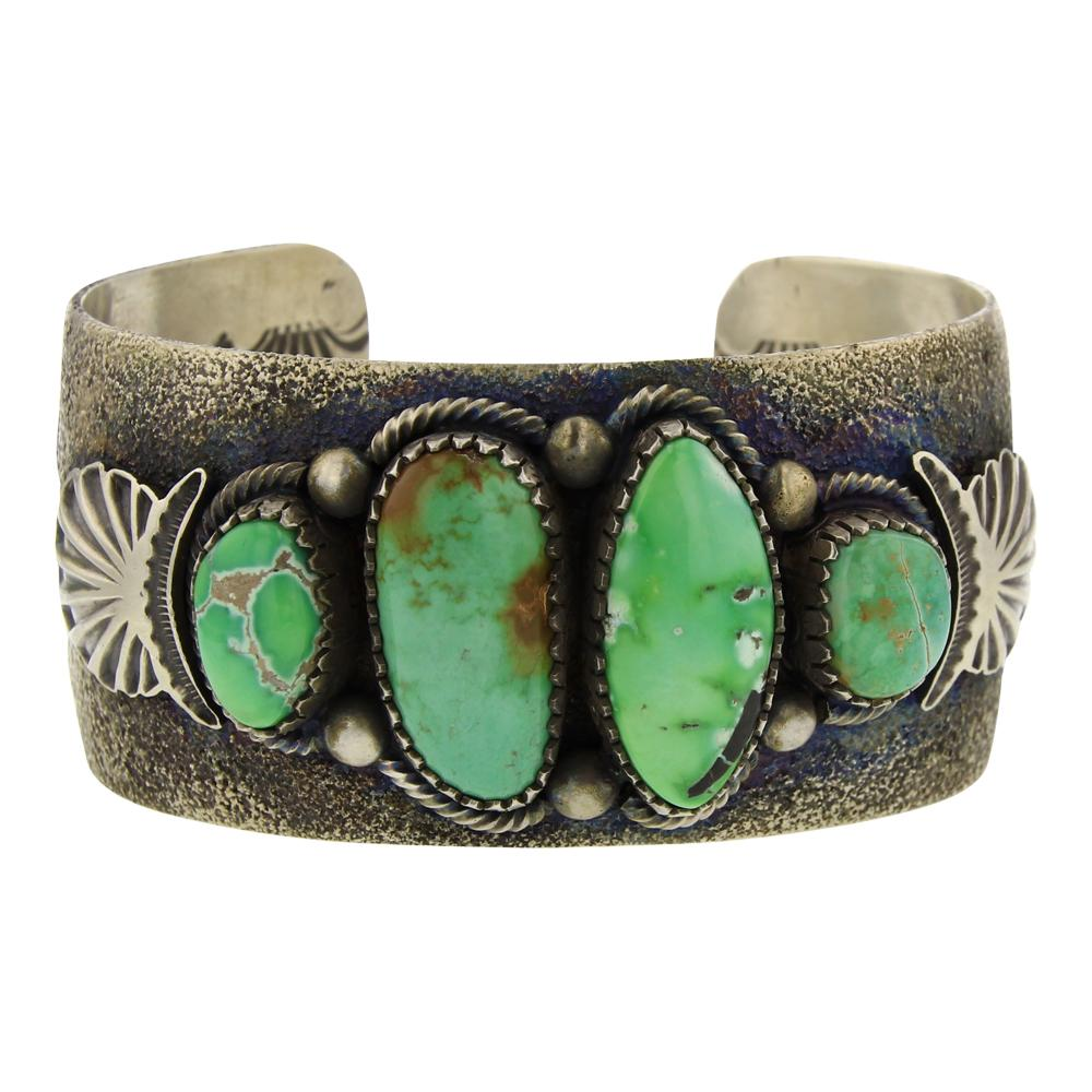Larry Martinez Chavez Carrico Lake Turquoise Cuff Bracelet