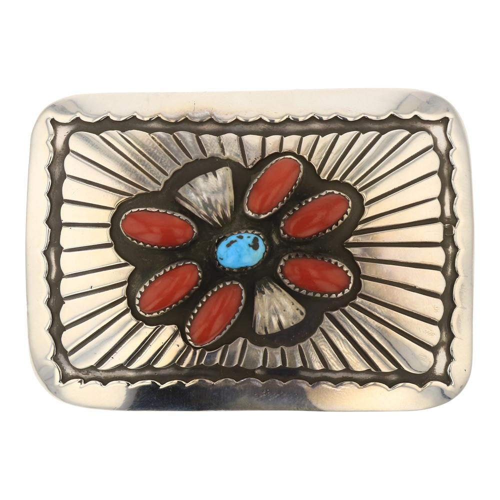 Mary Smith Mediterranean Coral & Turquoise Blet Buckle