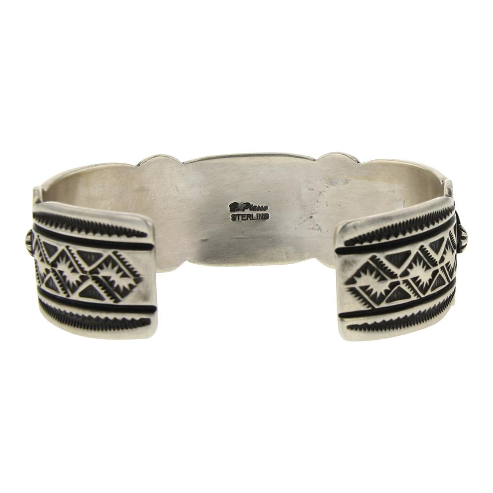 Piasso Deep Stamp Dry Creek Turquoise Cuff Bracelet