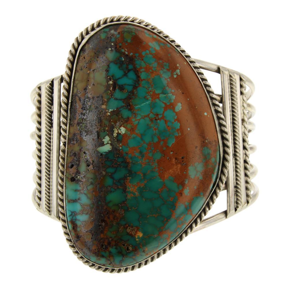 Joe Tso Pilot Mountain Turquoise Large Freeform Bracelet