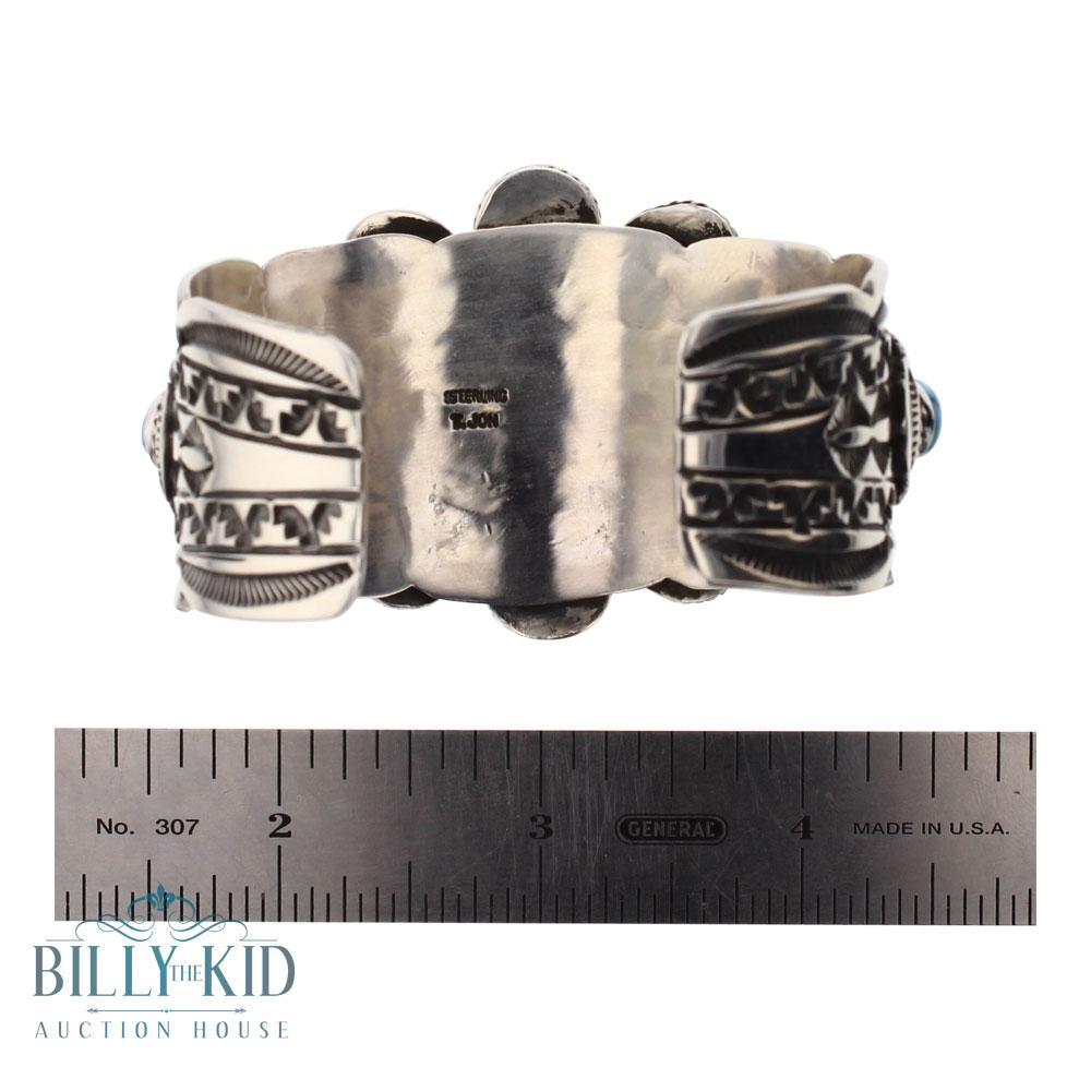 Tillie John Kingman Nugget Turquoise Cluster Cuff Bracelet