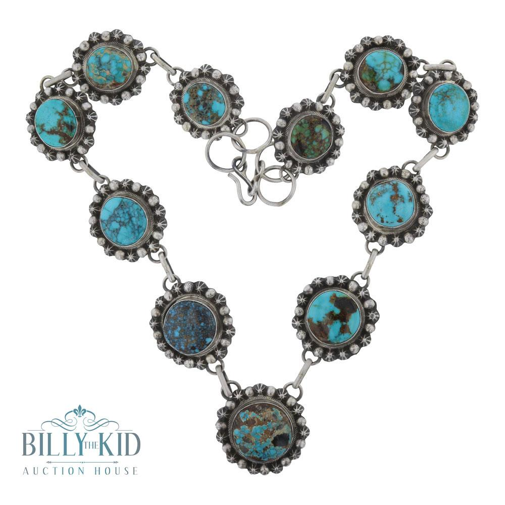 Bob Becenti Carrico Lake Turquoise Star Drop Necklace