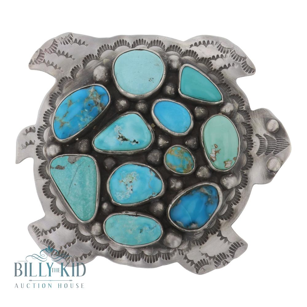 Leigha Cleveland Mixed Turquoise Turtle Belt Buckle