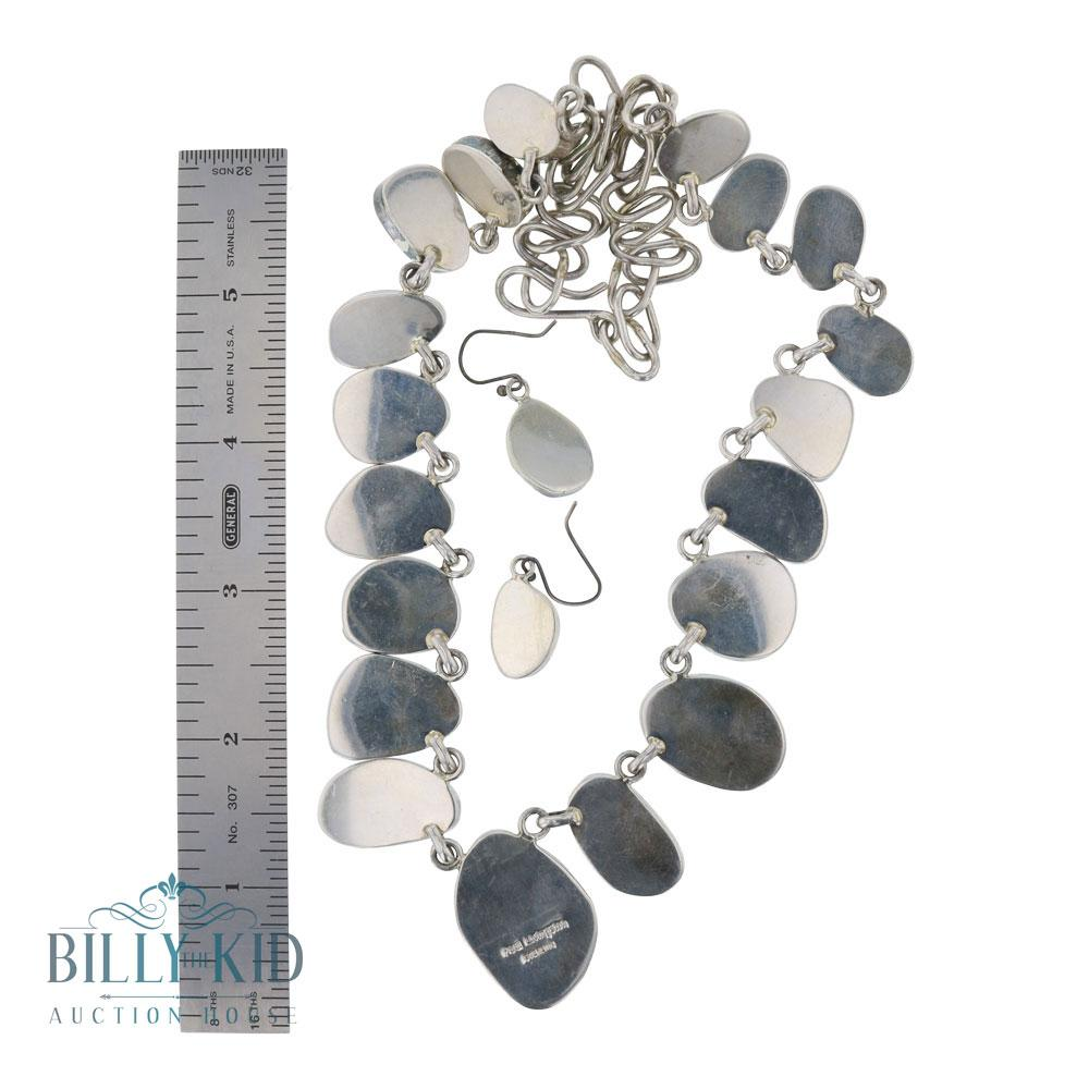 Paul Livingston Emerald Valley Graduated Freeform Necklace & Earrings Set