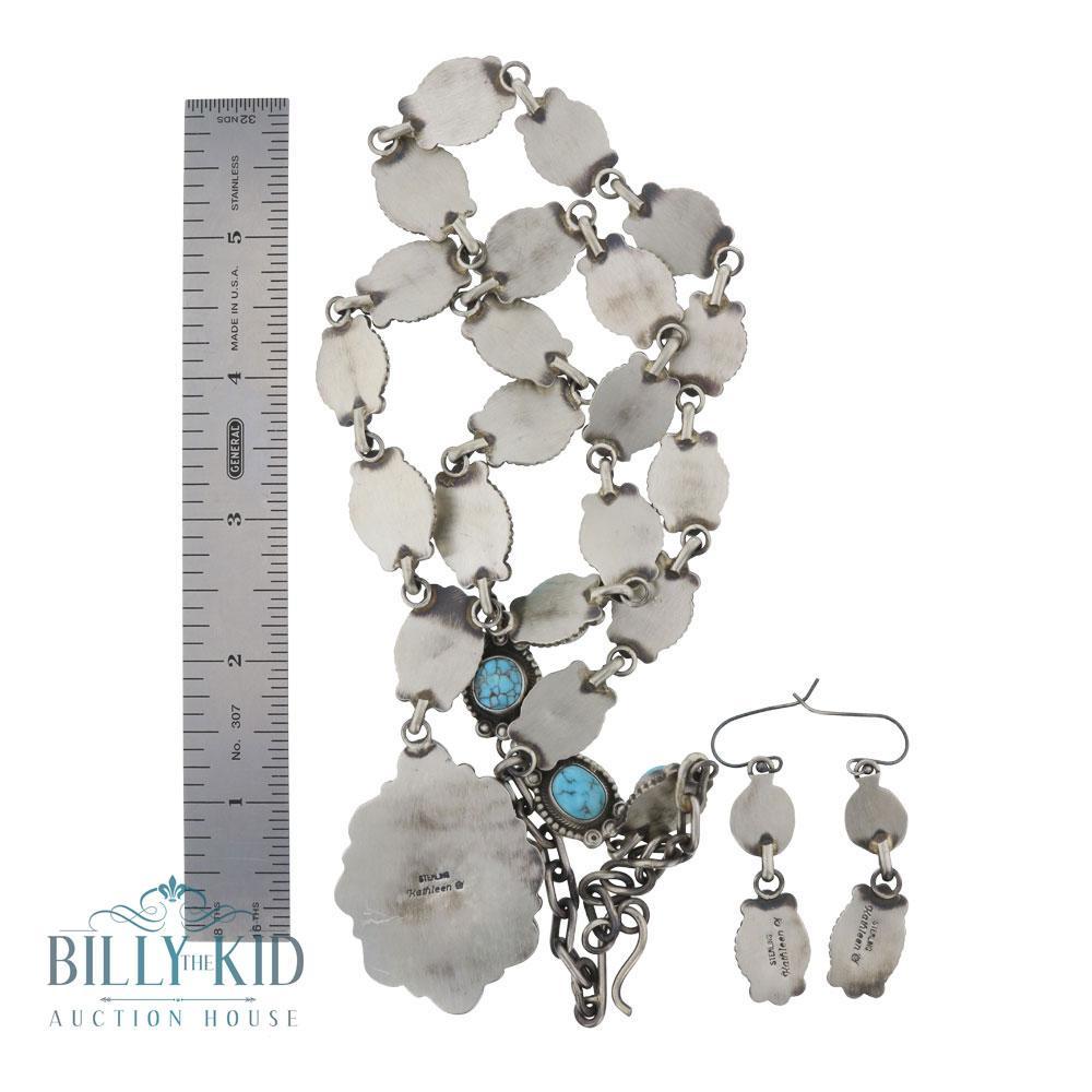Kathleen Chavez Candelaria Turquoise Necklace & Earrings Set