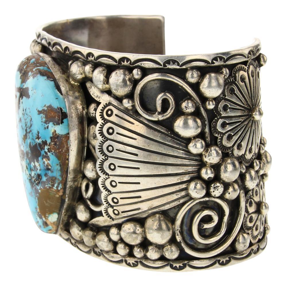 Gilbert Secatero Nevada Turquoise Cuff Bracelet