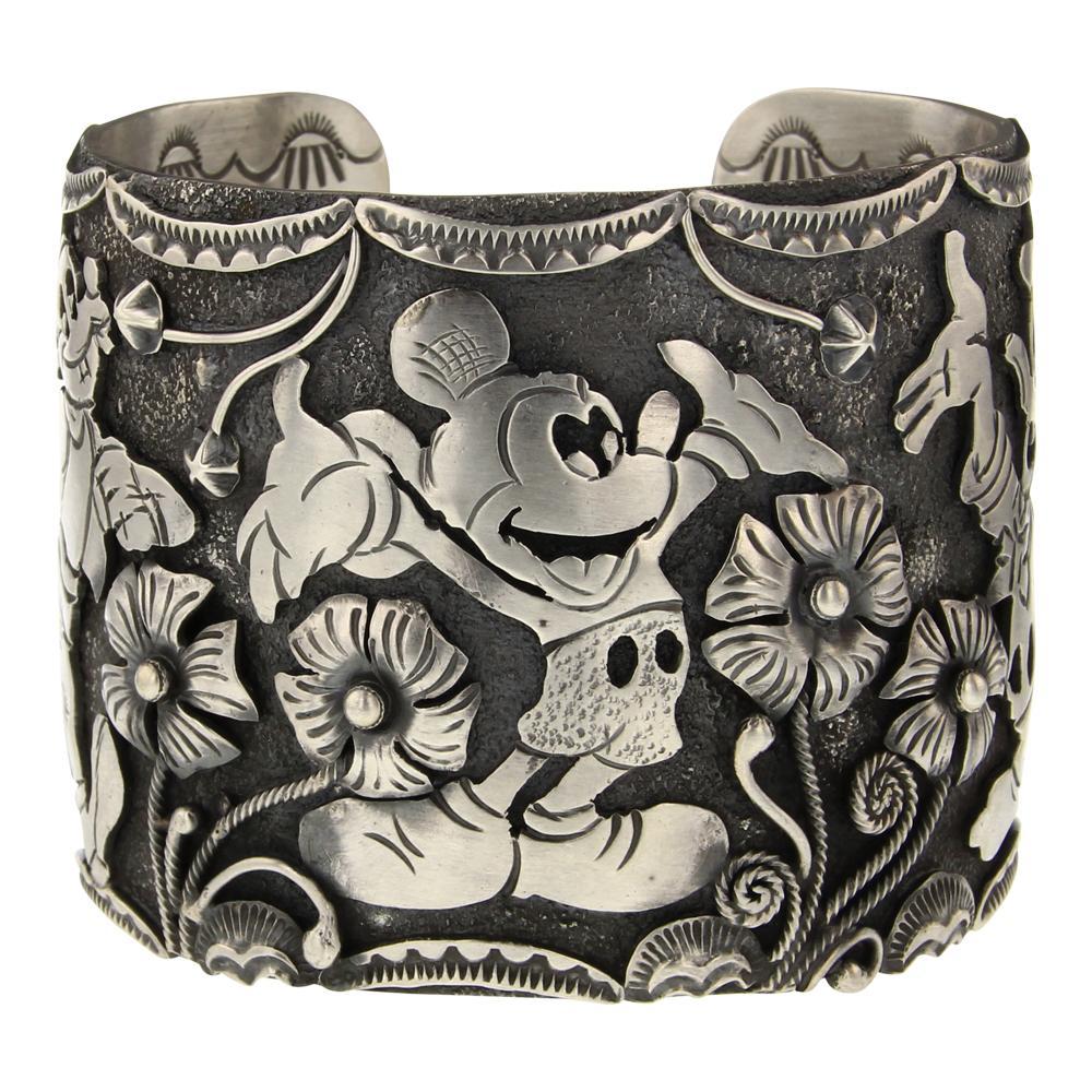 Larry Martinez Chavez Mickey Mouse Donald Duck & Goofy Unique Overlay Cuff Bracelet