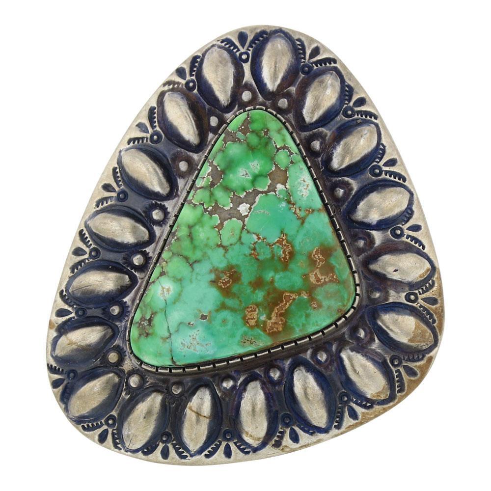 Ernest Thomas Bilagody Carrico Lake Turquoise Triangle Bump Out Ring