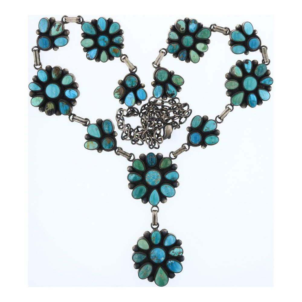 Beatty Tom Nevada Turquoise Cluster Necklace