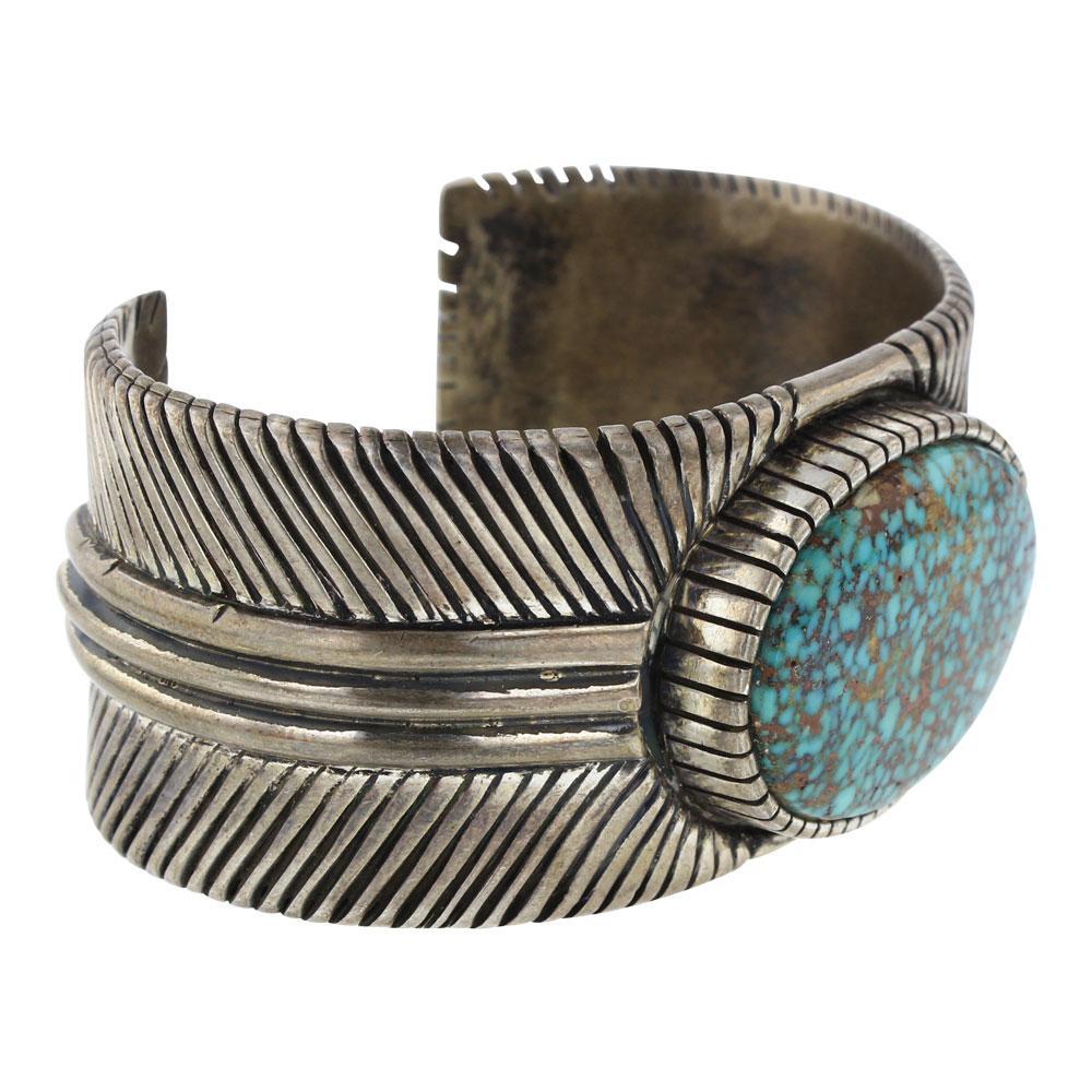 Benny Ramone Vintage Large Turquoise Mountain Turquoise Cuff Bracelet
