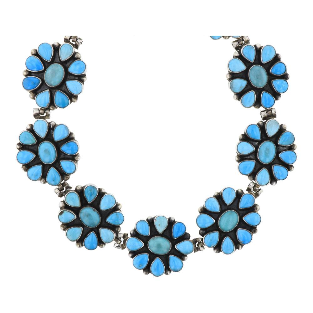 Kathleen Chavez Turquoise Contemporary Cluster Necklace
