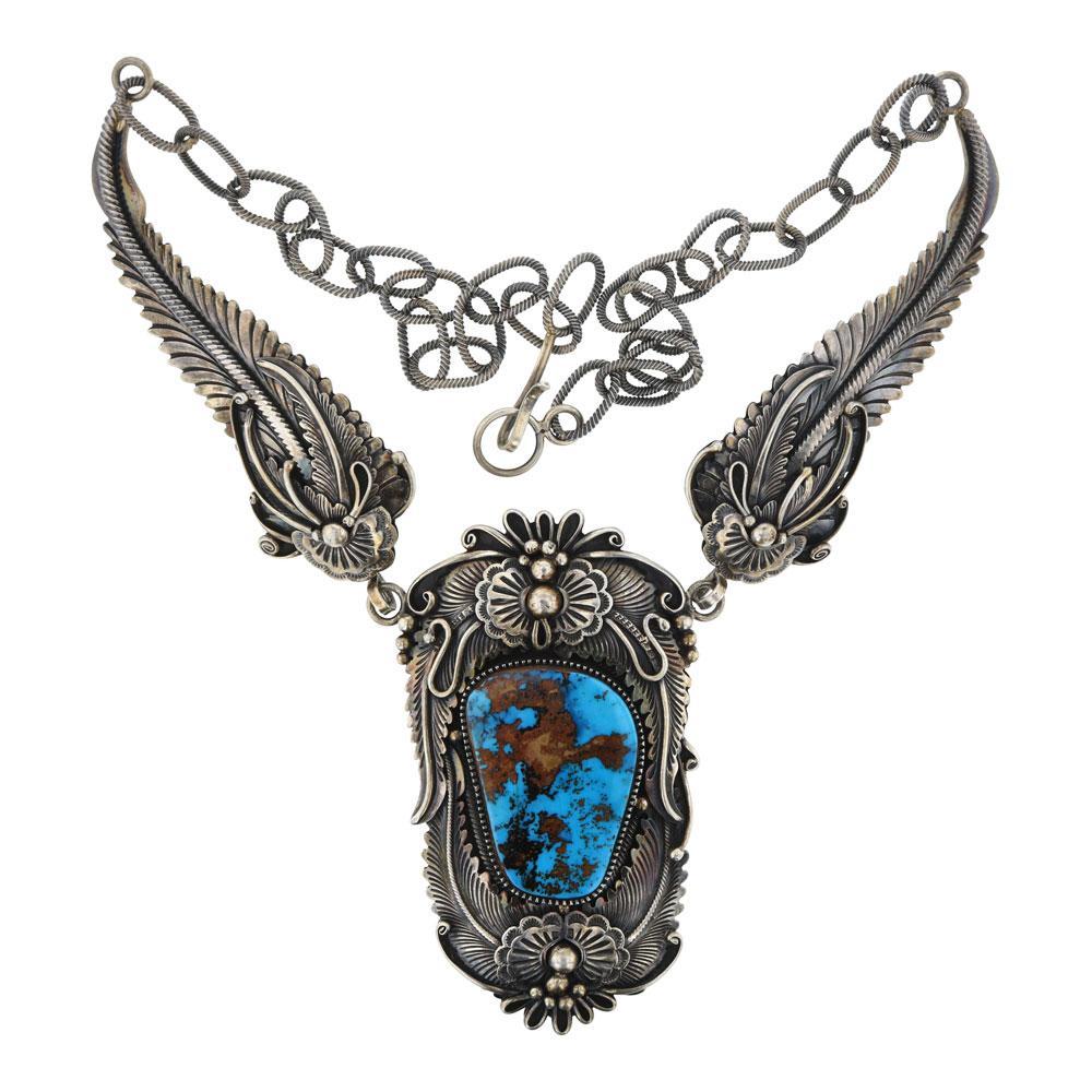 Mark Yazzie Vintage Pilot Mountain Turquoise Stunning Necklace