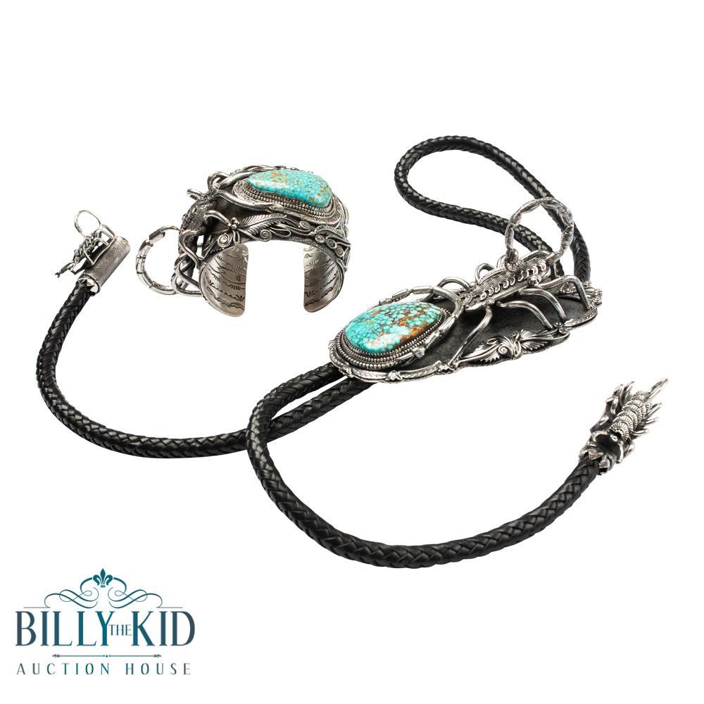 Larry Martinez Chavez 3D Scorpion Intricate Masterpiece Bracelet & Bolo Tie Set