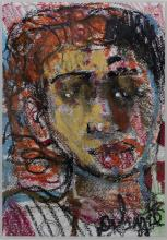 Louis Delsarte, 1944-2020, Penny, Pastel and acrylic on acid free paper, 12 x 9 inches