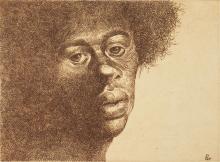 Charles White, 1918-1979, Untitled (Head of a Woman III)