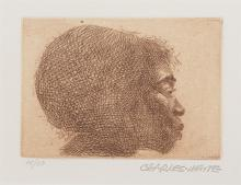 Charles White, 1918-1979, Profile of a Woman, Facing Right