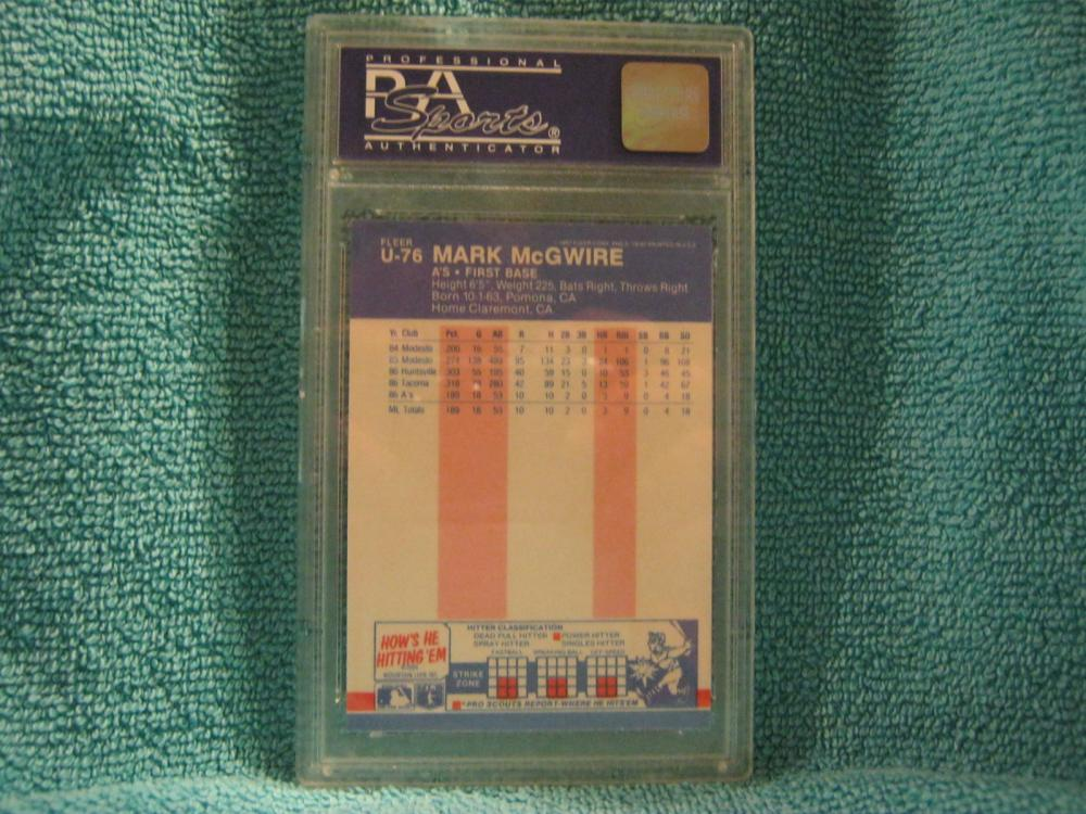 8 Available Mark McGwire First Base 1987 Fleer Update #U-76 PSA 8  NM-MT