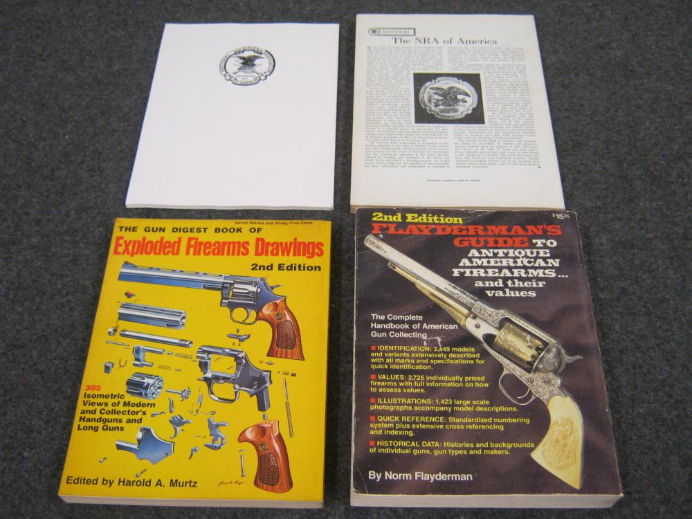4 BOOKS INCLUDING 2 NRA BOOKS, EXPLODED VIEW FIREARMS & FLAY