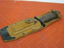 Kabar Style Knife w/Sheath & Sharpening Stone