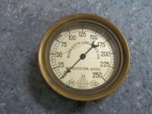 US Gauge Company, Rockwood Sprinkler Company Worcester Mass Brass Pressure Gauge