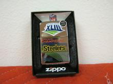 Zippo Steelers Super Bowl Champions Lighter NIB