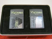Zippo 2 Lighter Vietnam War Gift Set NIB