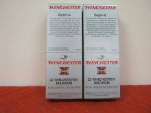2 Full Boxes Winchester Super X 22 Mag, 40 Grains, Hollow Point, 500 Rounds