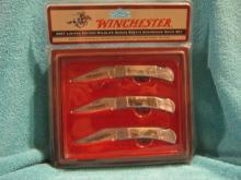 2007 Winchester Limited Edition Wildlife Series Scrimshaw Knife Set, NIB
