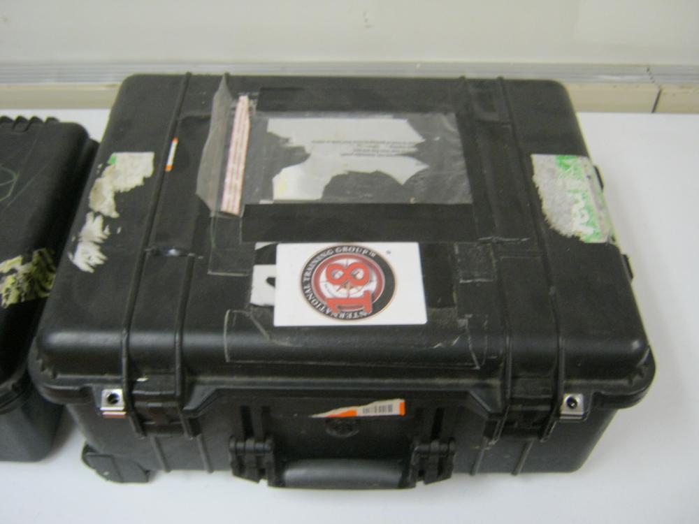 PELICAN 1560 CASE & HAPPDIG CASE WITH NUMEROUS RADIOS & BATT