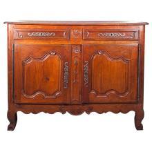 Regal French Louis XV Period Cherrywood Buffet