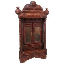 Tramp Art Miniature Wall Cabinet